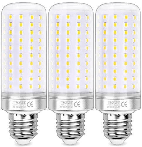HZSANUE LED Lampadine Mais 26W, E27 Vite Edison Lampadine, 3000K Bianco Caldo, 2600LM, 200W Lampadine Incandescenza Equivalenti, Non Dimmerabile, Confezione da 3