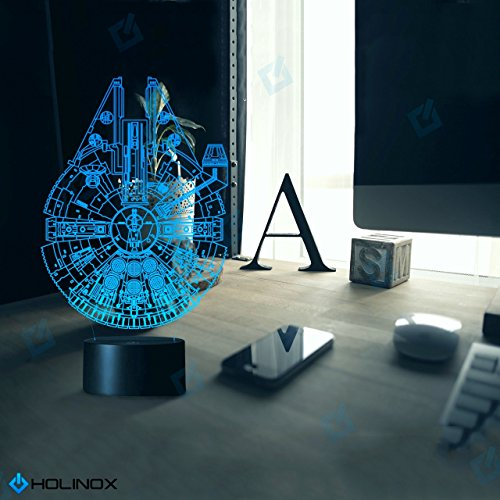 Millennium Falcon Star Wars Lighting Gadget Lamp Decor Awesome Gift