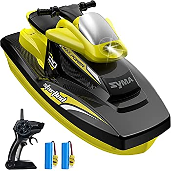 RC Boat for Kids SYMA 2.4GHz Q10 Remote Control Boats for Pools and Lakes with 40 Mins Play Time Double Power Low Battery Reminder Speed Motorboat Toys Gift for Boys Girls Beginners Adults