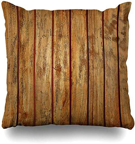 BONRI Soft Decorative Square Throw Pillow Case Throw Pillow Cover Merry Christmas-Ball-Pine-Baum-Holz-Dekorative Kissen-Fall-Dekor 20x20 Zoll-Kissen Kissenbezug