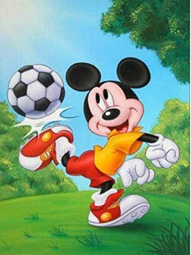qfafz 5D Diamante Pintura DIY Bordado Completo Imágenes Mosaico Dibujos Animados Mickey Mouse Kits De Punto De Cruz 40X50Cm
