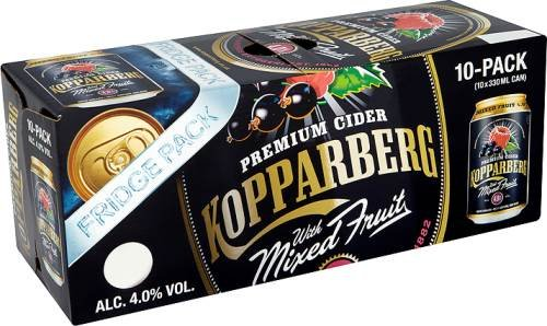 Kopparberg Mixed Fruits Premium Cider 10x330ml 4,0% Vol.