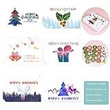 24 Weihnachtskarten mit Umschlag,Weihnachtskarten mit Umschlägen und Aufkleber,Exklusive Premium Weihnachtskarten,Klappkarten Blanko mit Umschlag bunt,Weihnachtsgrüße