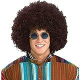 Forum Novelties Men's Jumbo Afro Hippie Costume Wig, Brown, One Size