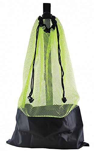YELLOW SNORKEL BAG! MESH DRAW STRING W/ SHOULDER STRAP
