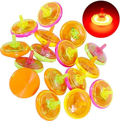 Goldge 15 Stück Kreisel für Kinder Leuchtende Kreisel Kleines Spielzeug Kinder mitgebsel Kindergeburtstag Gastgeschenk