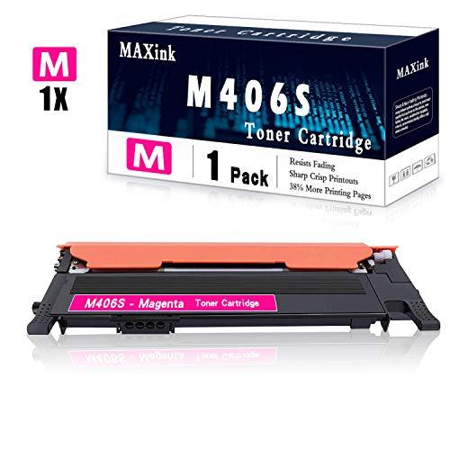 1 Pack Magenta CLT-M406S Toner Cartridge Replacement for Samsung C46x C41x C410W C460W C460FW C412W C413W C462W/FW C463W/FW CLP: 365 365W 360 CLX 330x 3300 3305 3305W 3305FW 3305FN Series Printer