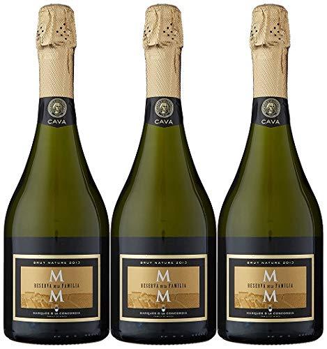 Marqués de la Concordia Reserva De La Familia Brut Millesima Cava - 3 botellas x 750 ml - Total: 2250 ml - 2250 ml