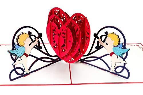 Valentijnsdag kaart 3D pop-up