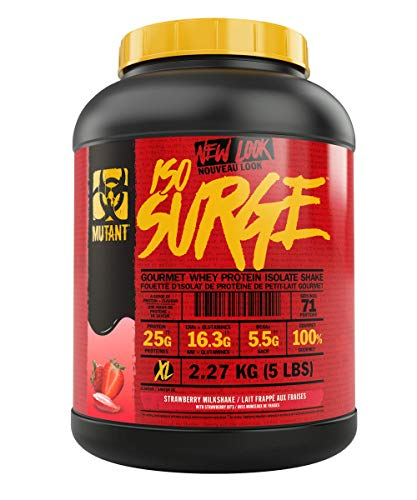 MUTANT ISO SURGE – Pure whey protein Isolate powder, low carb, low fat, digestive enzyme boosted – Strawberry Milkshake - 2.27 kg