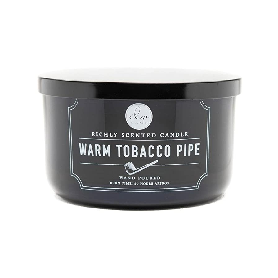 水族館警官居住者Decoware Richly Scented Warm Tobacco Pipe 3-Wick Candle 13.8 Oz. In Glass by Decoware