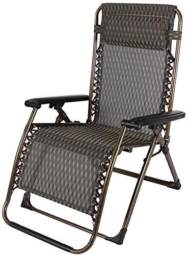 Suge Mecedoras Ocioso Heavy Duty Cero Gravedad Silla con reposacabezas, Jardín Balcón Patio Tumbona plegable silla reclinable Sillas de cubierta al aire libre, (Color : B)