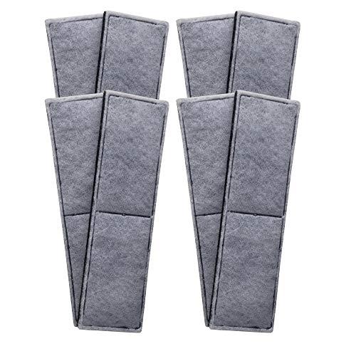 Finest-Filters 8 almohadillas de filtro de espuma de carbono compatibles con Fluval U4 gama de filtros internos