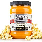 Dutchman's Popcorn Coconut Oil Butter Flavored Oil, 30oz Jar - Colored with Natural Beta Carotene,...