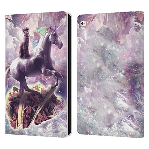 Head Case Designs Officially Licensed James Booker Dreamy Unicorn & Tacos Space Cat Leather Book Wallet Case Cover Compatible with Apple iPad Air 2 (2014)
