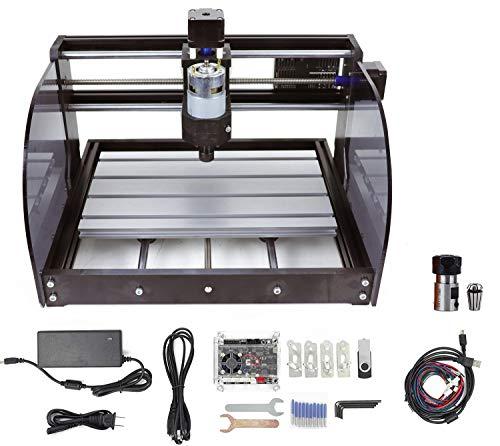 RATTMMOTOR CNC 3018Pro-Max 3Axis GRBL Control DIY Mini CNC Engraving Milling Machine + ER11 Collet for Engraving Plastic, Wood, Acrylic, PVC, PCB