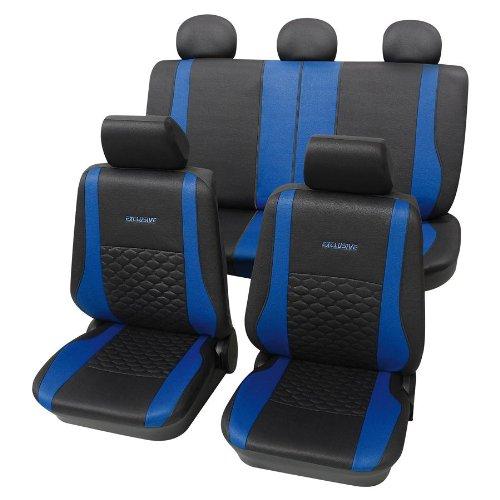 Eco Class Exclusive blau 17tlg. Lederlook Sitzbezug Schonbezüge Schonbezug Autoschonbezug