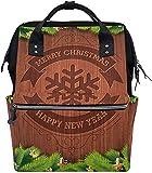 Daypack Ramas De Pino De Navidad Copo De Nieve Grano De Madera Pañal De Impresión Bolso De Momia Bolso De Pañales Bolsas De Asas De Cuidado De Mamá Mochila De Momia De Bebé Imperm