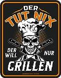 RAHMENLOS Deko Blechschild für den BBQ Grill Fan: Der TUT