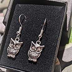 Gift Boxed Handmade Pagan Goddess Silver Plate Earrings Pair