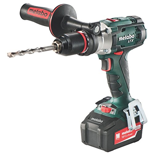 Metabo 602192680 Cordless Power Extreme Impuls Combi Drill with 2 x 5.2Ah Li-ion Batteries
