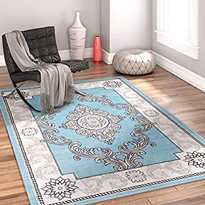 Dreamy Grey Modern Abstract Distressed Geometric Boxes Area Rug Easy Clean Stain Fade Resistant Doormat Contemporary Brush Stroke Thick Soft Plush Living Room