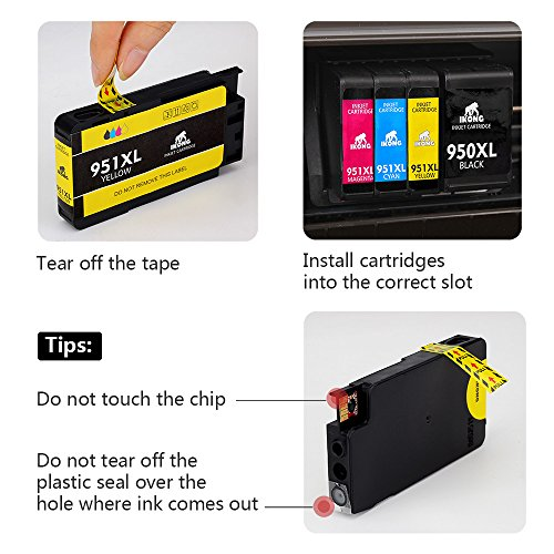 IKONG Compatible Ink Cartridge Replacement for HP 950XL 951XL 950 951 Ink Cartridge Works with HP OfficeJet Pro 8600 8610 8620 8100 8630 8660 8640 8615 8625 276DW 251DW 271DW Photo #2