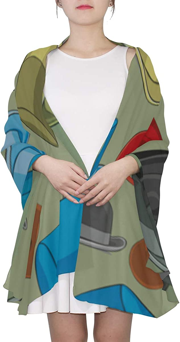 Mens Scarf Lightweight Art Cartoon Animation Magician Hat Scarfs For Women Lightweight Long Scarfs For Women Lightweight Lightweight Print Scarves Women Shawl Wrap Little Girls Scarfs Fashion