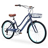 sixthreezero EVRYjourney Women's Casual Edition 7-Speed Cruising Hybrid Bike w/Integrated Cable Lock...