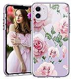 1Anberi Kompatibel mit Apple iPhone 11 Hülle Klar Silikon Case Crystal Clear Cover Transparent Dünne Weiche TPU Schutzhülle mit Blumen Muster Handyhülle für iPhone 11