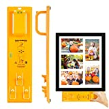 Picture Hanging Kit, Picture Frame Hanger Tool with Level and Position Nail (Picture Frame Ruler)