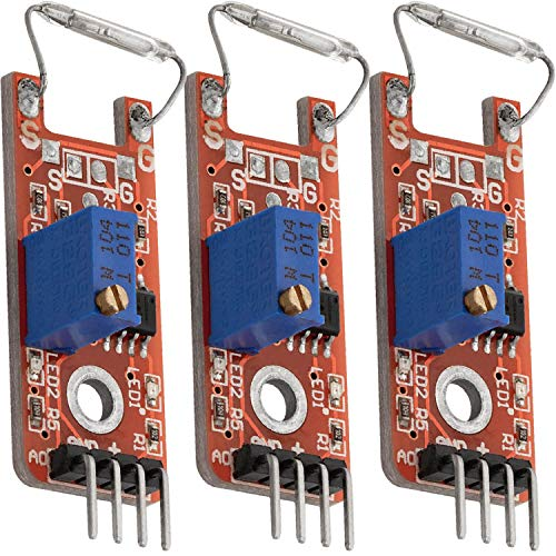 AZDelivery 3 x KY-025 Magnetschalter Reed Sensor Modul inklusive eBook!