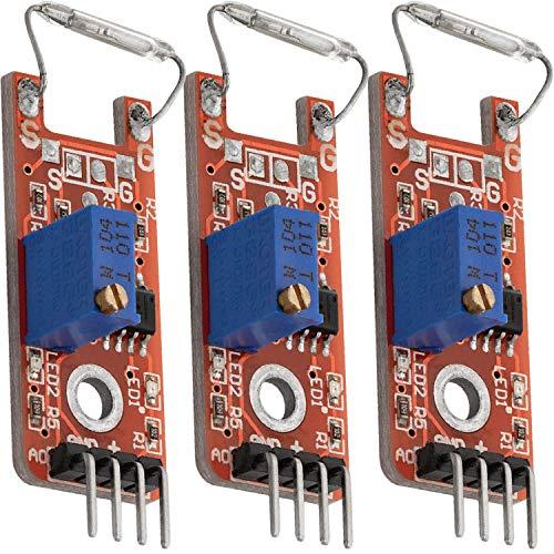AZDelivery 3 x KY-025 Magnetschalter Reed Sensor Modul inklusive eBook!