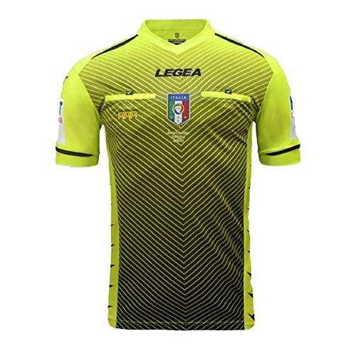 LEGEA 2020/2021 Camiseta Arbitro AIA M/C para Hombre, Hombre, M1164, Amarillo Fluo, X-Large