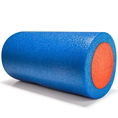 e-Best Rodillo de fitness, rodillo de masaje, rodillo de masaje de dureza media, para entrenamiento de fascia y masajes de fitness, para espalda, vértebraduras, piernas, rodillo de espuma para yoga