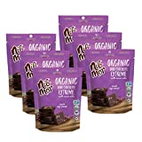 Nib Mor Organic Dark Chocolate Snacking Bites with 80% Cacao - Extreme, 3.55 Ounce (Pack of 6)