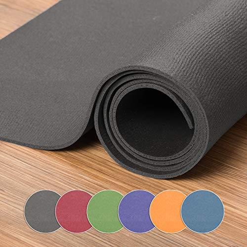 XXL Yogamatte in verschiedenen Farben + Größen, schadstofffreie Yogamatte in grau, besonders groß und breit, OEKO-Tex 100 zertifiziert und...