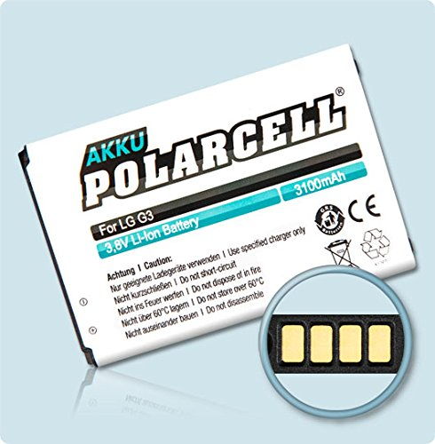 MeXXstar PolarCell Akku für LG3, D855 / BL-53YH (3100mAh/11,8Wh) …