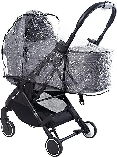 AXKID Protector de Lluvia para Capota de Paseo, Protector de Lluvia para Carrito de Bebé, Protector de Lluvia Transparente para el Capazo de La Silla de Paseo