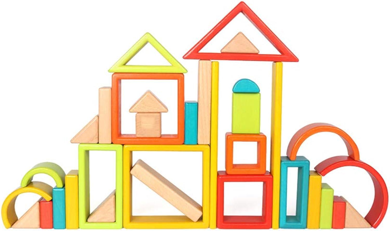 LIUFS-SPIELZEUG Rainbow Building Blocks Toys Früherziehung Puzzle Boy 3-6 Jahre altes Mdchen zusammengebaut kann beien (Farbe   Bunte)