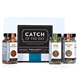 Urban Accents CATCH OF THE DAY, Seafood Seasoning Gift Set (Set of 3) - Ultimate Fish Seasoning Set for Seafood, Meat and even Veggies- The Perfect Gift for Any Occasion