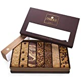 Chain & Jo Sweets, Artisan Biscotti Classic Combo Variety Pack, Gift Box, Individually Wrapped Biscotti, Hand Crafted, Valentine's Day Food Gift Baskets, Certified Kosher, No Added Preservatives
