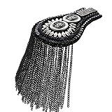 niumanery - Tabla de Hombro de Metal con Borla de Moda Vintage Cadena Exquisita Catwalk joyería decoración Hecho a Mano Manualidades Regalos Adornos Plata