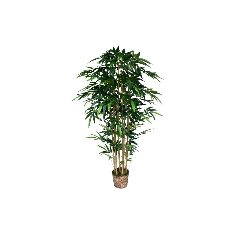 silk flower arrangements vintage home 6 foot tall high end realistic silk bamboo tree with wicker basket planter