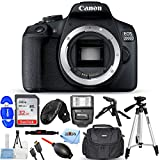 Canon EOS 2000D/Rebel T7 DSLR Camera (Body Only) Pro Bundle with 32GB SD, Flash, Tripods, Gadget Bag, HDMI Cable and More [International Version]