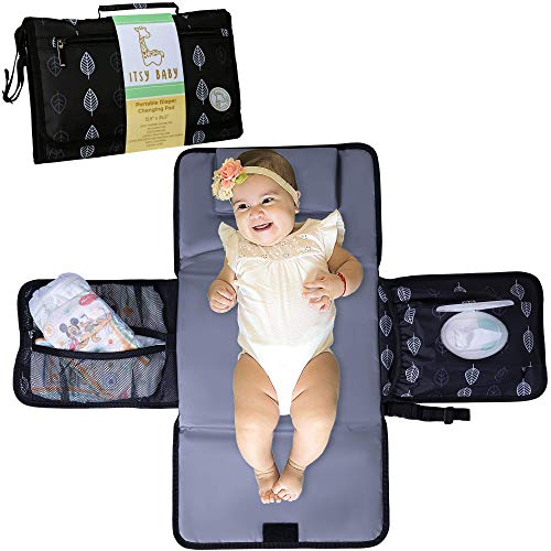 Portable Changing Pad for Baby, Extra Long Changing Mat, Premium Quality Waterproof Changing Clutch, Unisex Diaper Clutch Perfect for Baby Shower, Diaper Changing Pad with Extra Padded Head Pillow