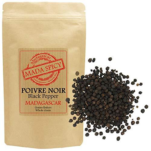 """Poivre noir en grains de Madagascar 1020gr. Sachet refermable. """"Agriculture durable"""""""