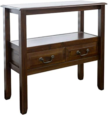 Christopher Knight Home Grant Acacia Wood Accent Table, Brown Mahogany