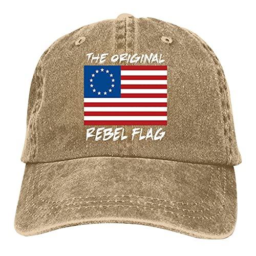 Betsy Ross Flag Vintage American Flag 1776 boné de beisebol ajustável jeans bonés jeans naturais