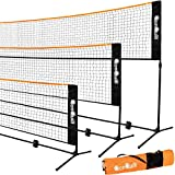 QonQuill Portable Badminton Net Set - Sports Net for Pickleball, Tennis, Soccer Tennis, Kids Volleyball Net -...